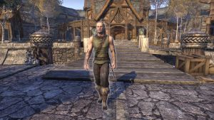 His name is Eldfyr. Sometimes walk through marketplace, fishing at right side of marketplace down by stairs (From Riften, I offer he whose arms are coiled and stained with the ink and weeds of the sea).