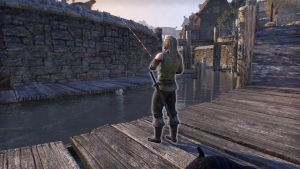 Eldfyr. Walking through marketplace. Sometimes fishing at right side of marketplace down by stairs (From Riften, I offer he whose arms are coiled and stained with the ink and weeds of the sea).