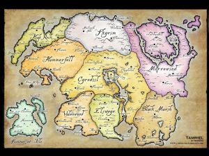 The division of The Elder Scrolls Online map into regions by parts of the series (not only). But don't expect in ESO to see exactly the same as in other series of the game. The place is the same but time different. :)